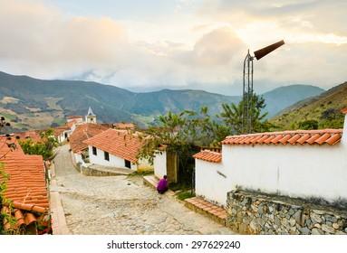Los Nevados town in the Andes mountains. Merida, Venezuela