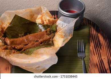 """Los Pasteles"" is a typical Puerto Rican food made with viands and meat."