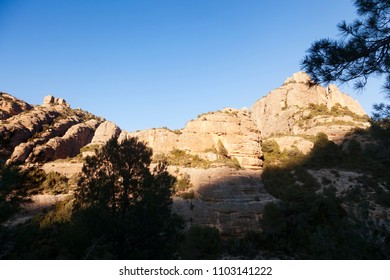 Los Ports mountains. Galera peak. Beceite. Spain