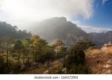 Los Ports mountains Park Natural. Tarragona province