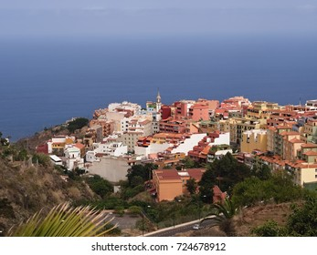 Los Realejos, a city in the north of Tenerife, colorful, confused, narrow, in typical Canary architecture