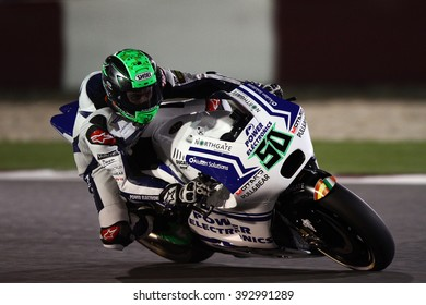 LOSAIL - QATAR, MARCH 18: Irish Ducati rider Eugene Laverty at 2016 Commercial Bank of Qatar MotoGP at Losail circuit on March 18, 2016