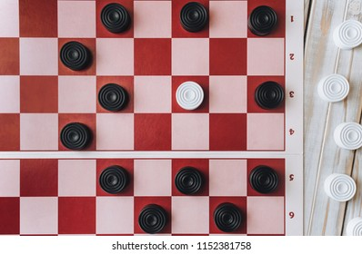 Loss of checkers. The situation is deadlocked concept. Zugzwang.