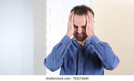 Loss, Failure, Upset Middle Aged Man
