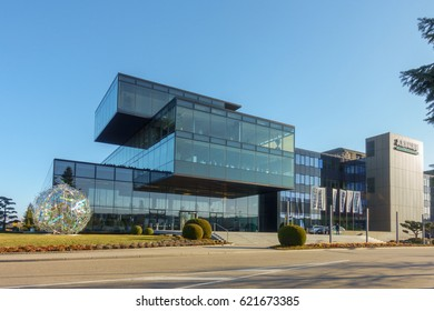 LOSSBURG, GERMANY - MARCH 17,2017: Arburg Headquarters in Lossburg at the Technology Days