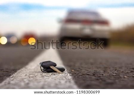 Lost Car Keys Lying On Roadway Stock Photo Edit Now 1198300699