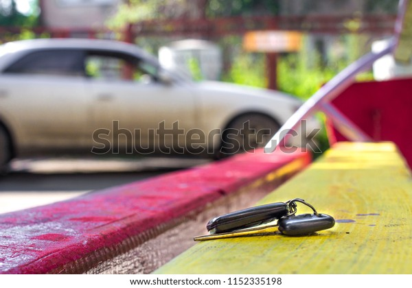 Lost Car Keys >> Lost Car Keys On Bench On Stock Photo Edit Now 1152335198
