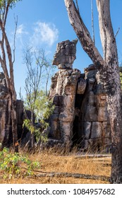 The Lost City is a collection of rock formations  Near Batchelor, 100 km south-west of Darwin in Litchfield National Park. Remote spot