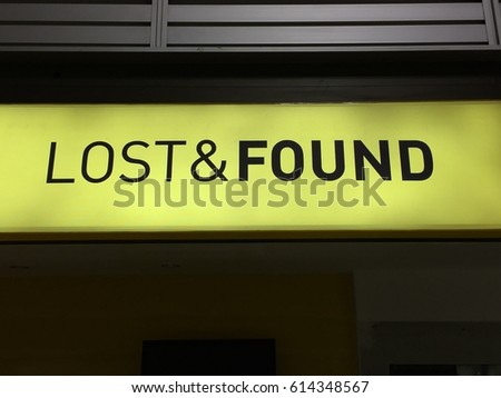 lost found sign airport stock photo edit now 614348567 shutterstock