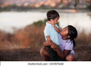 Lost immigrant children supporting each other after  being detached from parents in a foreign country.