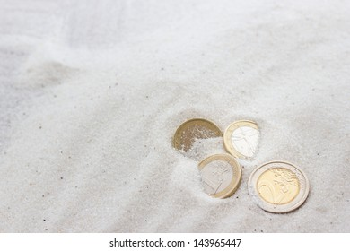 Lost money in the beach
