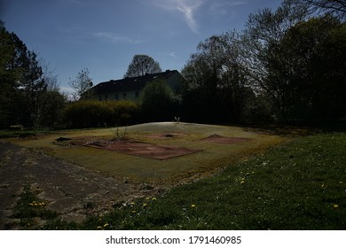 Lost place of an old football field