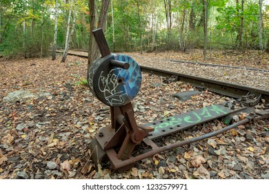 Lost places of Germany : A railway track in Berlin