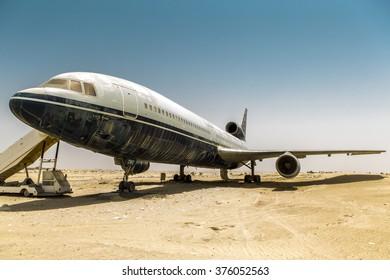 Lost plane in the desert