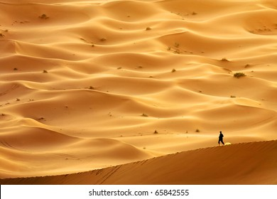 Lost in Sahara Desert, Africa