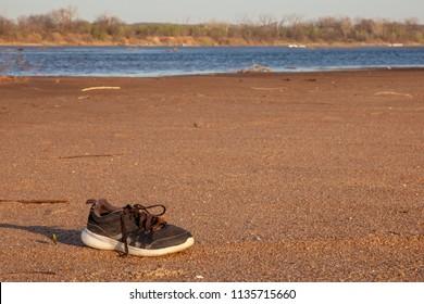 Lost Shoe on Sandbar