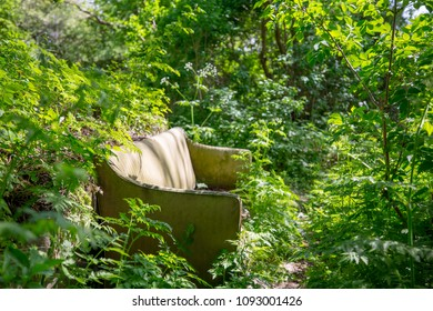 Lost sofa in the woods