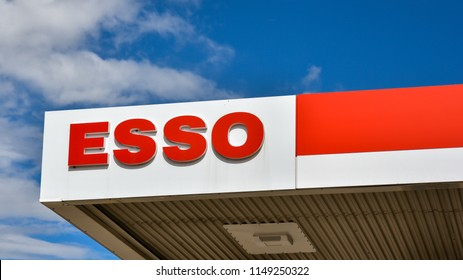 Loten, Norway - ESSO gasoline station. ESSO is a trading name for ExxonMobil and its related companies.