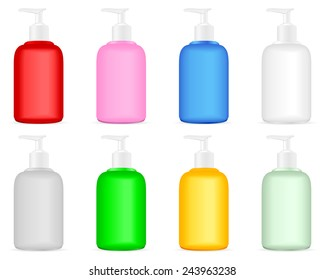 Lotion bottle illustration.