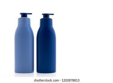 lotion,cream or bath gel bottle isolated on white background