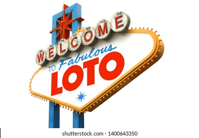 Loto on famous Las Vegas sign