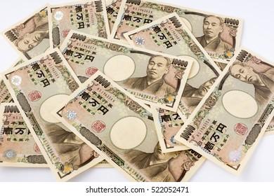 Lots of 10000 Yen bills