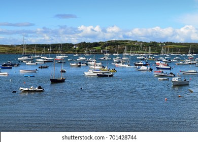 Lots of boats at Baltimore harbor, West Cork in Ireland.
