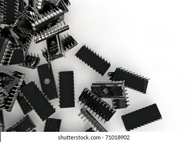 lots of computer chips