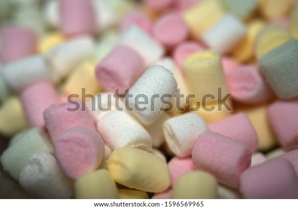 lots of cute and colorful marshmallows