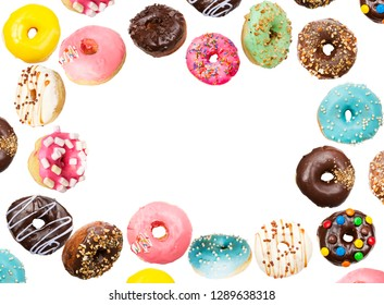 Lots of delicious donuts flying in the air