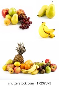 Lots of delicious ripe tropical fruit