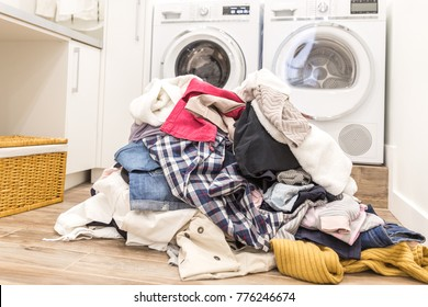 Lots of dirty clothes