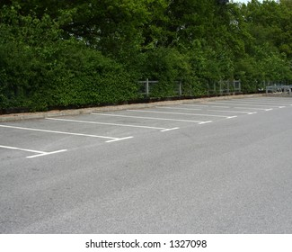 Lots of empty spaces in a supermarket car park