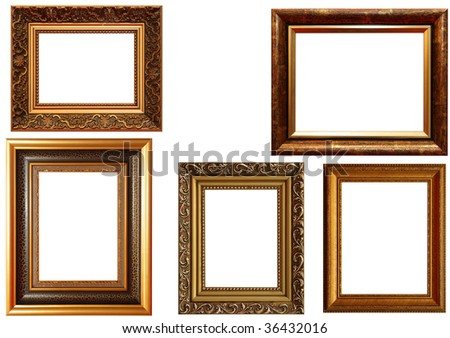 Lots Frames Isolated On White Background Stock Photo Edit Now