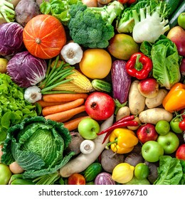 lots of fresh and healthy vegetables