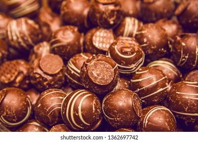 Lots of fresh tasty Belgian chocolate