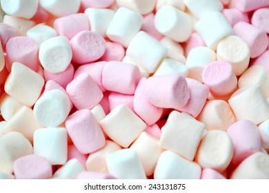 Lots of little marshmallows