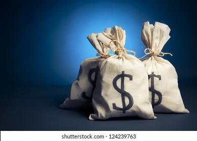 lots of money inside bags