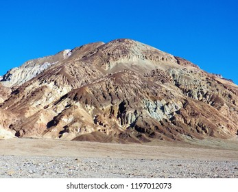 Lots of natural colors and layers of different sand and sediment in this geological feature in the Death Valley area of California