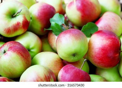 Lots of ripe apples background