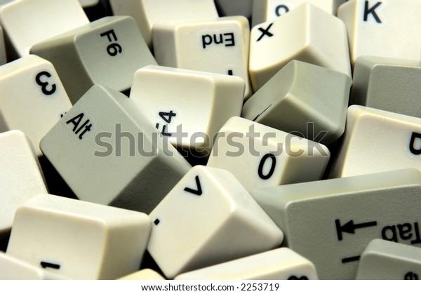 lots of scattered keyboard keys