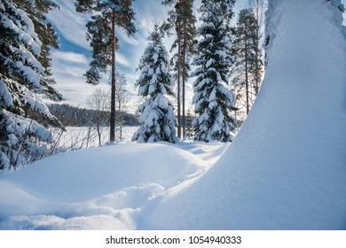 Lots of snow in Oslo, Norway