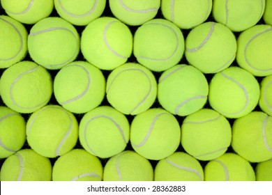 Lots of tennis balls for a background or pattern.