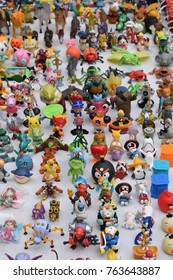 lots of toys - mass of little figures in all colors