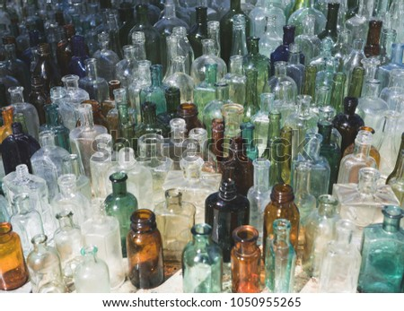 8f066648786 Lots Vintage Old Glass Bottles Variety Stock Photo (Edit Now ...