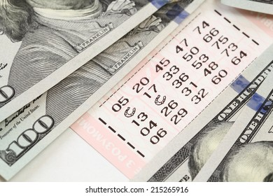 lottery and dollar bills