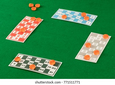 lotto bingo tombala gambling game entertainment on green background