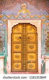 Lotus Gate in Pitam Niwas Chowk at Jaipur City Palace, Jaipur, India
