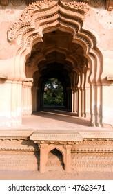 Lotus mahal of Zanana Enclosure at ancient town Hampi, Karnataka, India