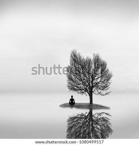 Lotus Pose Yoga Practice Fine Art Stock Photo Edit Now 1080499517